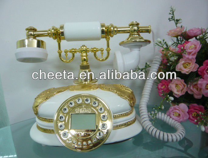 retrol telephone receiver for antique marble telephone