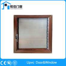 Retro design sunshades upvc glass window with shutter good quality