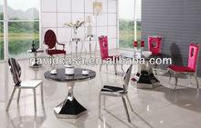 Partei Glasplatte Esszimmer Runden Tisch Und Stuhl