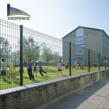 Powder coated metal 3D rigid welded wire mesh fence panels