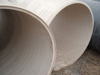 Large diameter pvc pipe by wrapping for water drain