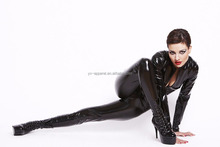 spandex catsuit wholesale women black rubber inflatable suit