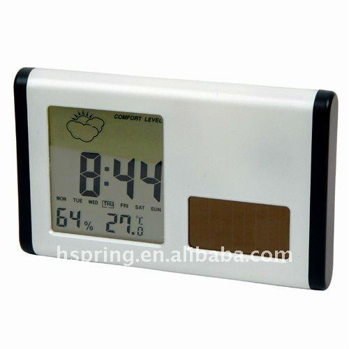 Latest solar power weather station digital desk clock