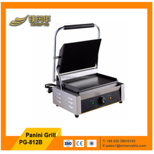 Commercial single head full flat sandwich electric contact grill panini stickers electric panini machine for panini bread