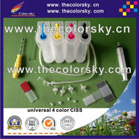 universal 4 color CISS kit continuous ink supply system with accessaries for Epson for Brother for Canon for HP printer