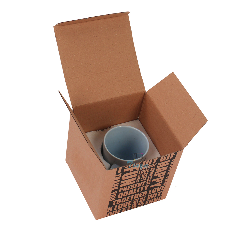 custom corrugated cheap box with foam for mugs
