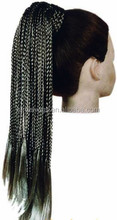 two tone color jumbo braided synthetic hair wig for black and white woman