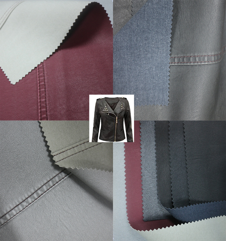 Good quality PU synthetic leather for garment