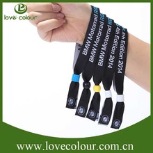 High quality wholesale woven fabric wristband for promotion gift