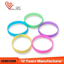 Printed Wristband Glow In The Dark Blank Silicone Rubber Bracelet Maker