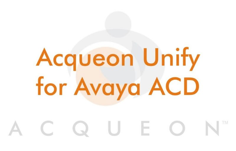 Unify for Avaya ACD