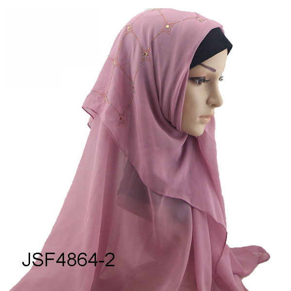 The new Muslim chiffon square scarf fashion women head scarf scarf wholesale