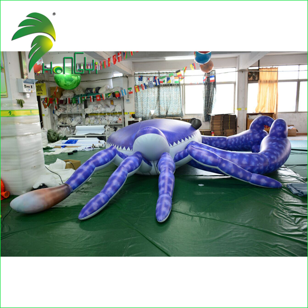 Decorative Floating Giant Purple Air Crabs Replica Design / Custom Shaped Model Inflatable Crab for Display