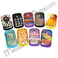 Cute Owl Pattern Back Cover Dual Layer Silicone + PC Hybrid Case for Samsung Galaxy S3 Mini i8190
