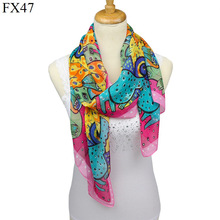 New femalechiffon scarf silk scarf animal cartoon dog printed scarf