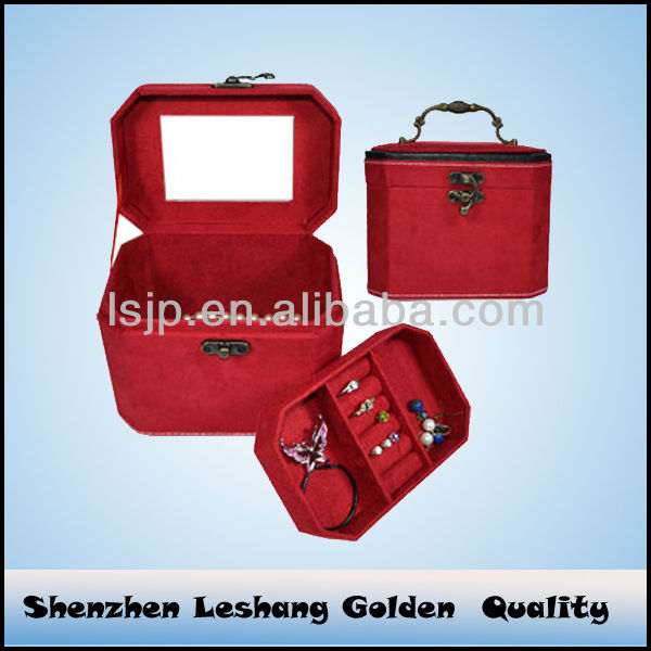 New Flannel Jewellery Box Manufacturer and Velvet Jewelry Box&jewelry box lock hardware