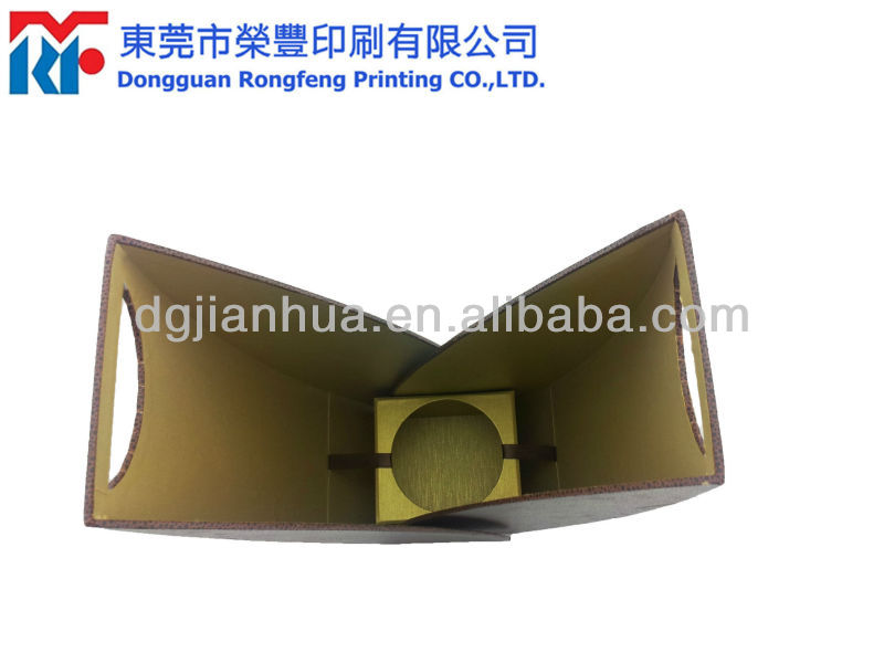 2014 elegant paper packaging box for wine bottle carrier