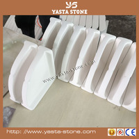 Fan-shaped White Culture Marble Stone Soap Dish