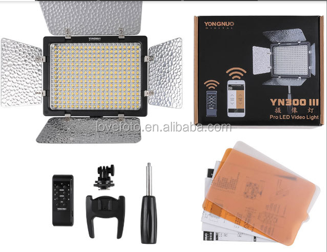 Yongnuo Flash Light YN300 III By Cellphone Control APP LED Light 300bulbs