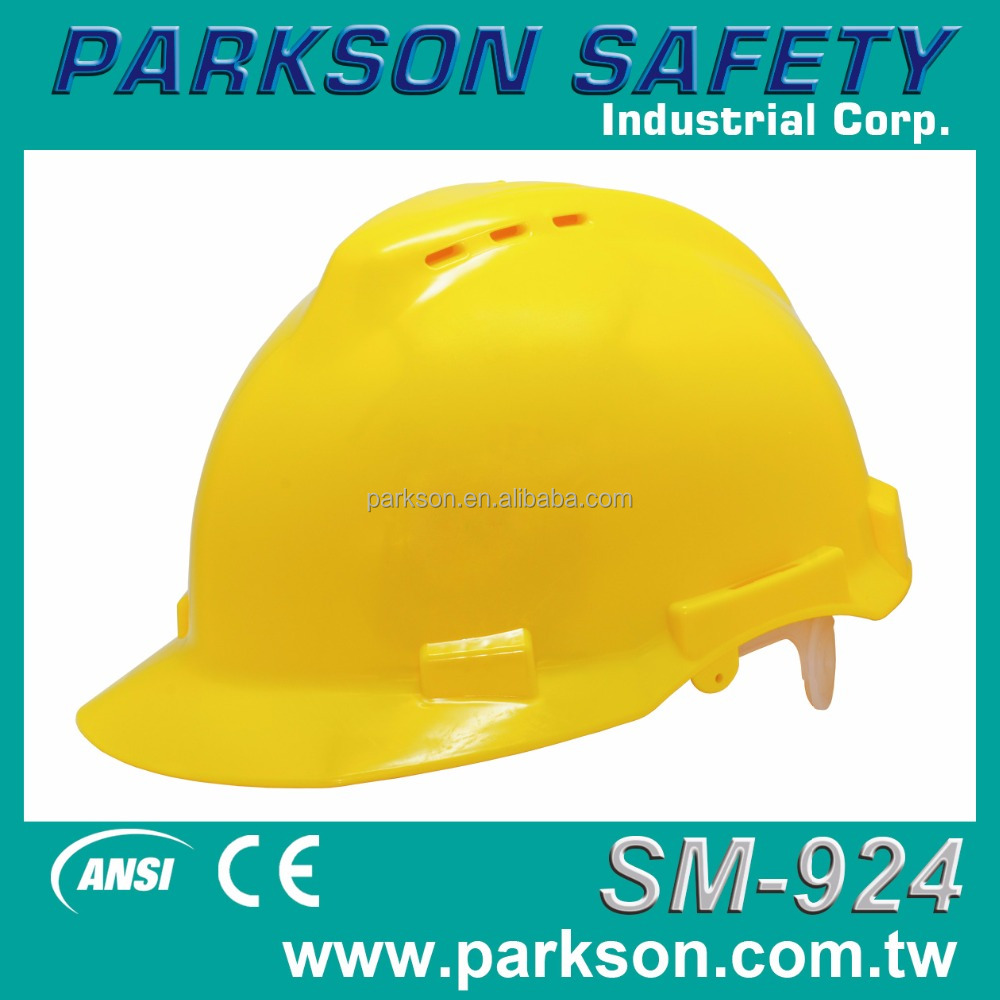 Taiwan Custom High Visibility Ventilation Design Reliable Protection Safety Helmet ANSI Z89.1 CE EN397 SM-924