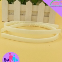 Plain plastic hair bands with teeth, headbands for DIY hair accessories