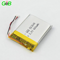Rechargeable polymer li-ion battery 503040 3.7v 600mah with long life li-polymer battery