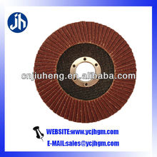 aluminium oxide flap disc for removing materials,edges,chamferings