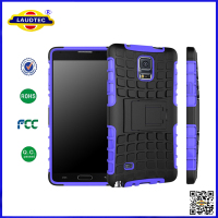 Shock Proof Heavy Duty Rugged Tough Builder Dual Layer Silicone Hard Case Cover for Samsung Galaxy Note 4 laudtec