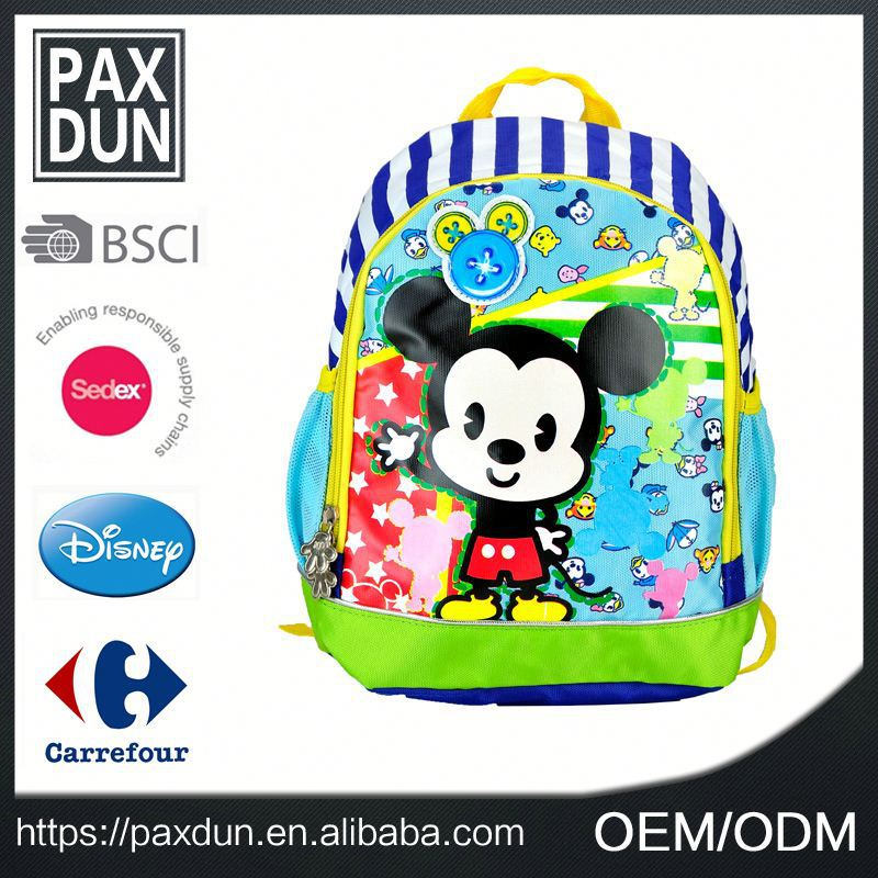 2016 Newest Cartoon Mouse Antique Cool Contemporary Hardshell Smart Kid School Backpack