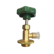For Air conditioning fluoride Brass Screw Refrigerant Can Tap Valve for R134a R12
