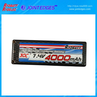 7.4v lipo li polymer battery pack made by lithium polymer battery 3.7v with 4000mah