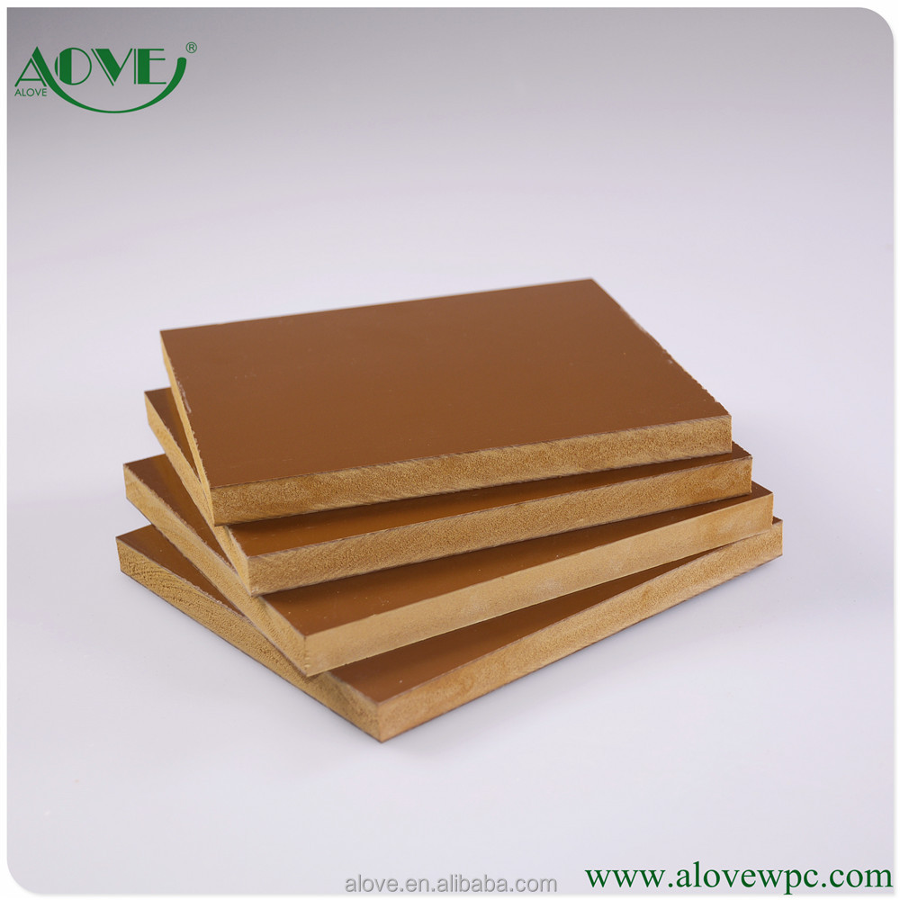 New material waterproof 17mm high density wpc pvc foam board /concrete foam board