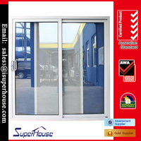 Hot sell Australian Standards AS2047/AS 2208 sound proof double glazed aluminium patio sliding screen door