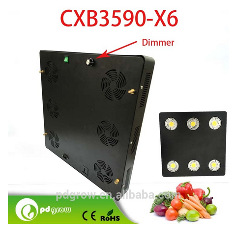 Aeroponics systems for indoor house garden use high PPFD 600w led grow light with 3 years warranty