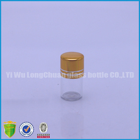 China supplier sold 3ml mini glass jar and metal lids, wholesale jar
