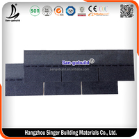 3 tab Standard Asphalt Roofing Shingles, Single Layer Roof Sheet Per Piece Price