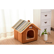 New Fashion Striped Removable Cover Dog House Cat Beds For Small Medium Dogs Pet Products House