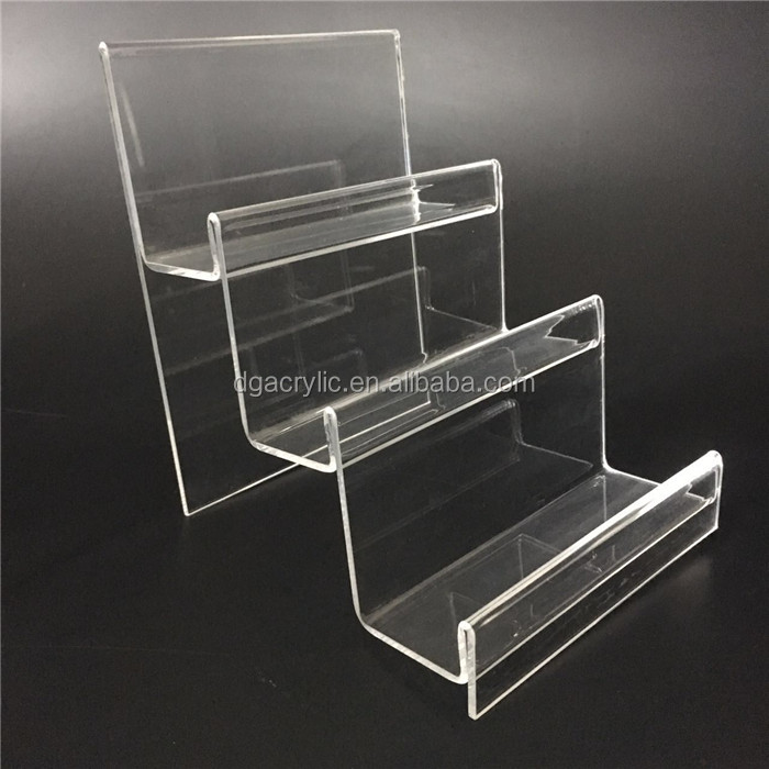 Wholesale freestanding shop store use 3 tier acrylic display shelf