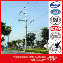 AAA credit rating Certificates Electric Galvanized Steel Power Pole China Supplier