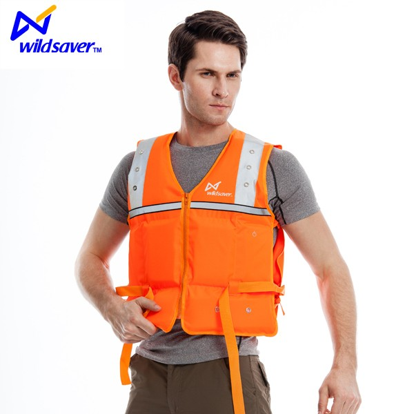 Wholesale personalized inflatable life jacket with LED light