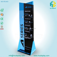 Floor standing acrylic golf club cardboard display stand racks