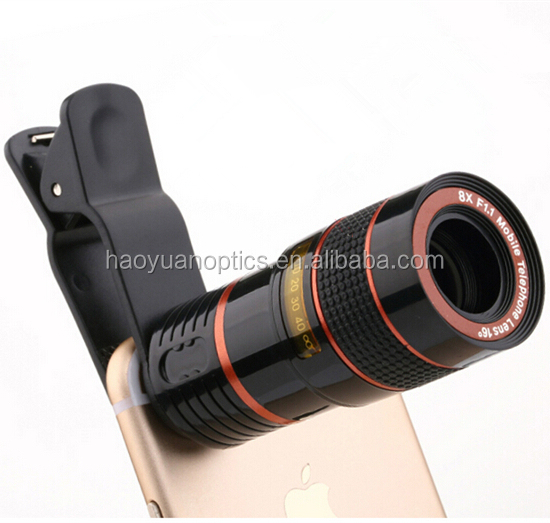 Optical 8X Zoom Telephoto Lens Mobile Phone Telescope Camera For iPhone Sumsung HTC New With Universal Clip