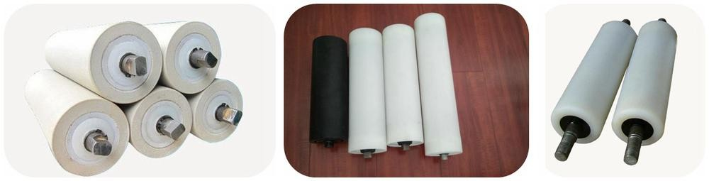 Low vibration and noise quality solid polyamides rollers with factory price