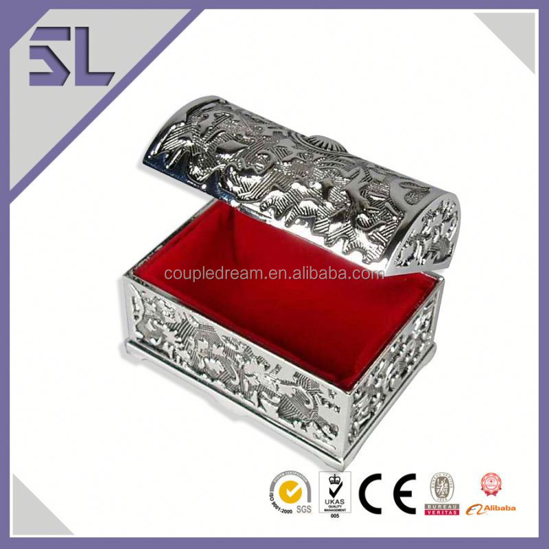 Round Metal Treasure Chest Jewelry Box Chinese Jewelry Box Made In China