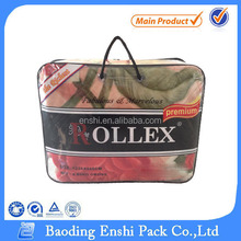 Recycled material eco-friendly pvc packing bag for bedding