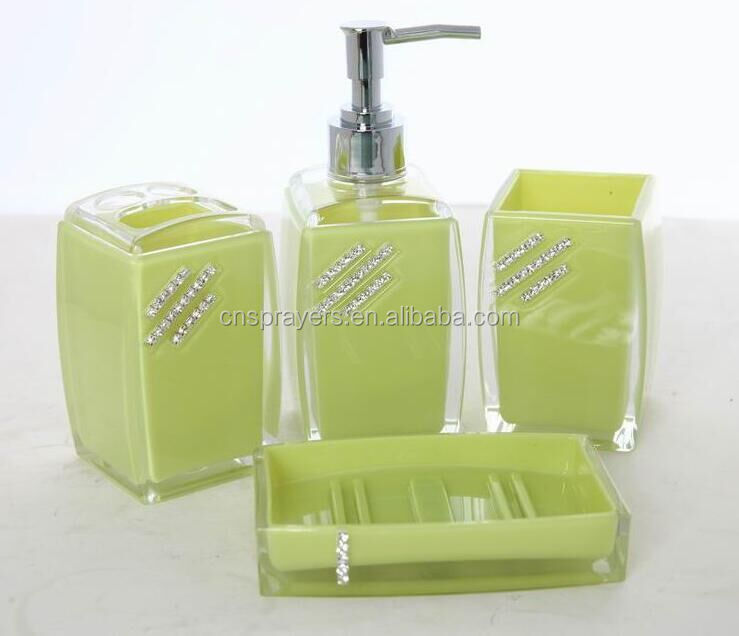 MZ-Eco-Friendly Feature and Plastic Material bathroom accessory set