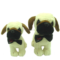 sitting shaped dog customized stuffed toy