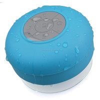 wireless bluetooth 3.0 waterproof shower speaker/water resistant/hands free portable speaker phone with built-in mic