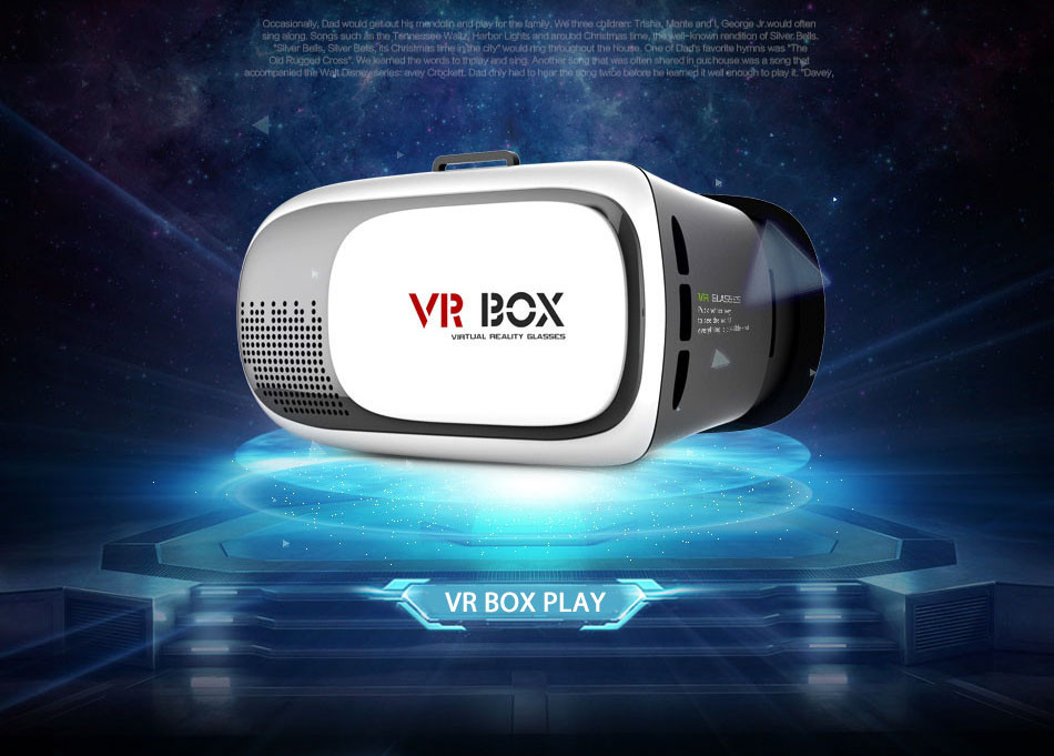 portable 3D vr box 2.0 Virtual Reality 3D Glasses for blue film video open sex