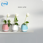 Bluetooth speaker 2017 novo design vaso de flores inteligente speaker com luz led